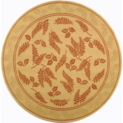 Courtyard Natural/Terra Outdoor Rug Rug Size: Round 5'3