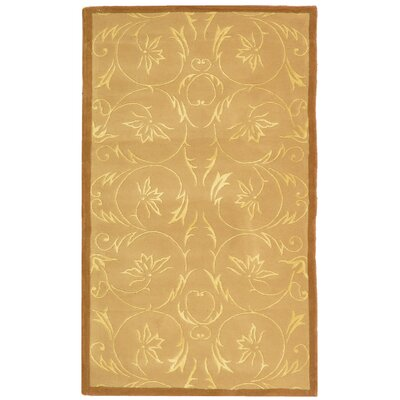 French Tapis Hand-Tufted Beige Area Rug Rug Size: 3 x 5