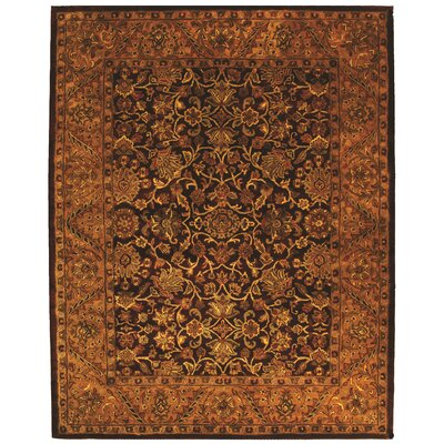 Golden Jaipur Burgundy/Gold Area Rug Rug Size: Round 8