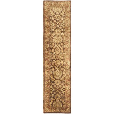 Golden Jaipur Tradition Brown/Red Area Rug Rug Size: Runner 23 x 96