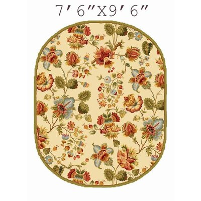 Kinchen Ivory/Red Area Rug Rug Size: Rectangle 89 x 119