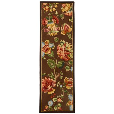 Kinchen Brown Area Rug Rug Size: Runner 26 x 8
