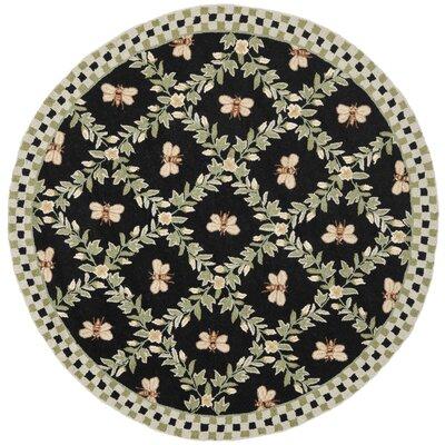 Isabella Bumblebee Black Novelty Rug Rug Size: Round 3