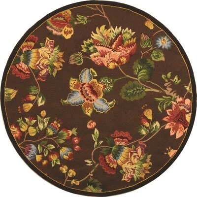 Isabella Brown Area Rug Rug Size: Round 4