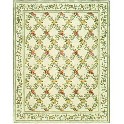 Kinchen Ivory English Trellis Rug Rug Size: Rectangle 18 x 26