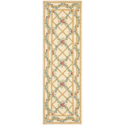 Kinchen Ivory French Trellis Rug Rug Size: Runner 26 x 12
