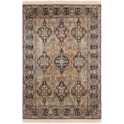 Royal Kerman Hand Knotted Area Rug Size: 4 x 6