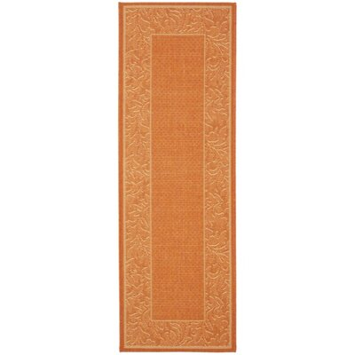 Octavius Terracotta/Natural Outdoor Rug Rug Size: Rectangle 27 x 5