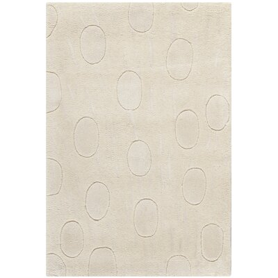Soho White/Tan Area Rug Rug Size: 2' x 3'
