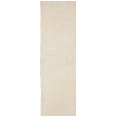 Soho White/Tan Area Rug Rug Size: Runner 26 x 8