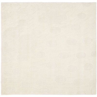 Soho White/Tan Area Rug Rug Size: Square 6