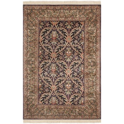 Royal Kerman Hand Knotted Area Rug Size: 56 x 4