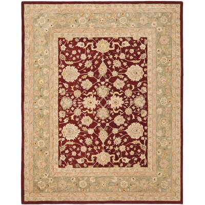 Anatolia Red/Moss Area Rug Rug Size: Rectangle 4 x 6