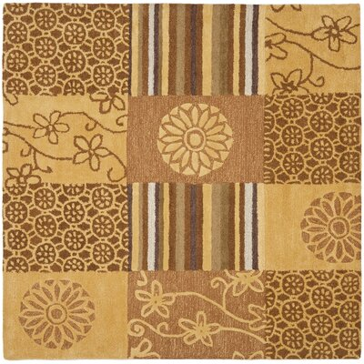 Soho Tan Area Rug Rug Size: Square 6'