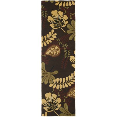 Jardin Brown/Multi Area Rug Rug Size: Runner 23 x 8