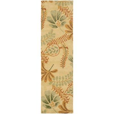 Jardin Beige/Multi Leaves Area Rug Rug Size: Runner 23 x 8