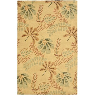 Jardin Beige/Multi Leaves Area Rug Rug Size: 5 x 8