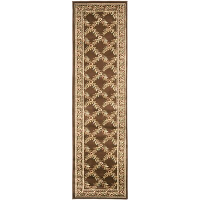 Taufner Brown Checked Area Rug Rug Size: Runner 23 x 8
