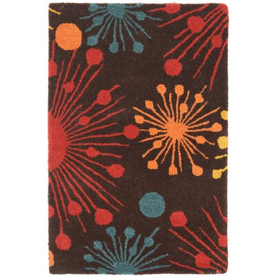 Soho Brown Fireworks Area Rug Rug Size: Rectangle 2 x 3
