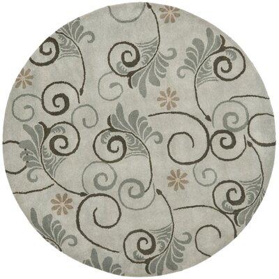 Soho Grey Area Rug Rug Size: Round 6