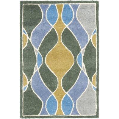 Soho Grey Swirl Area Rug Rug Size: Rectangle 2 x 3