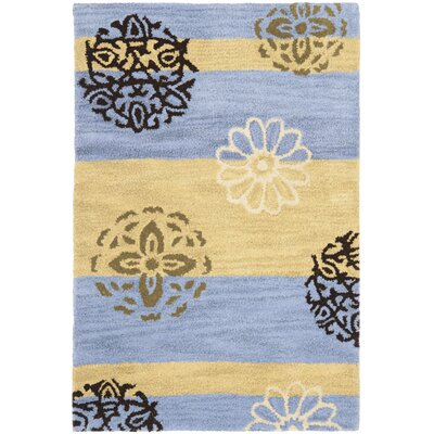 Soho Gold/Blue Area Rug Rug Size: 2 x 3