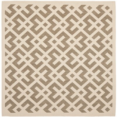 Quinlan Brown/Tan Indoor/Outdoor Area Rug Rug Size: Square 67