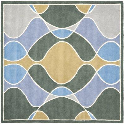 Soho Grey Swirl Area Rug Rug Size: Square 6