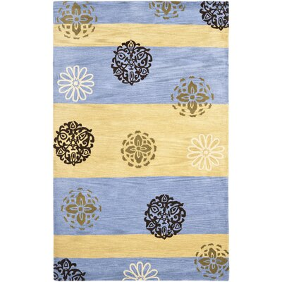 Soho Gold/Blue Area Rug Rug Size: Rectangle 5 x 8