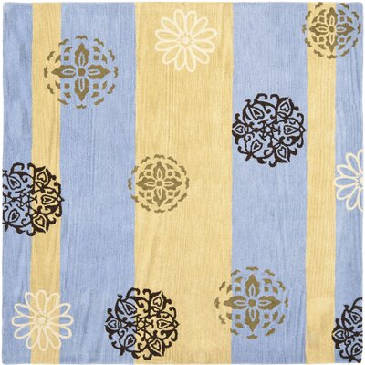 Soho Gold/Blue Area Rug Rug Size: Square 6