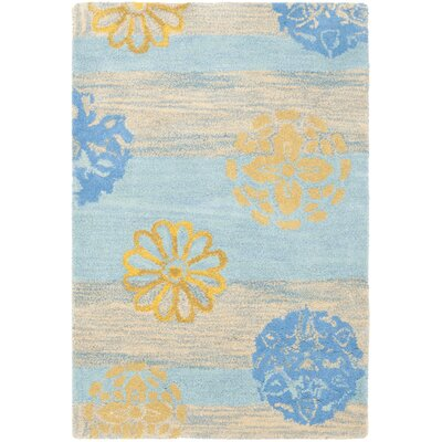 Soho Blue Stripe Area Rug Rug Size: Rectangle 2 x 3
