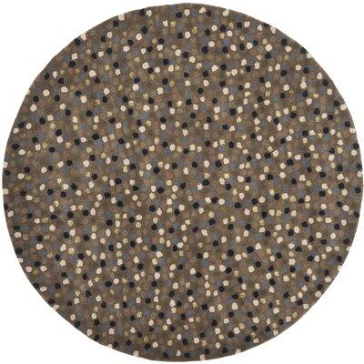 Soho Dark Grey Area Rug Rug Size: Round 6'
