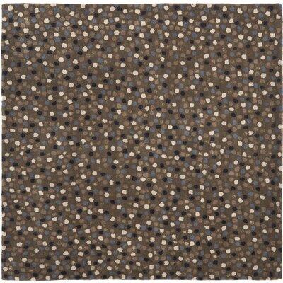 Soho Dark Grey Area Rug Rug Size: Square 6