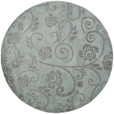 Soho Gray Area Rug Rug Size: Round 6
