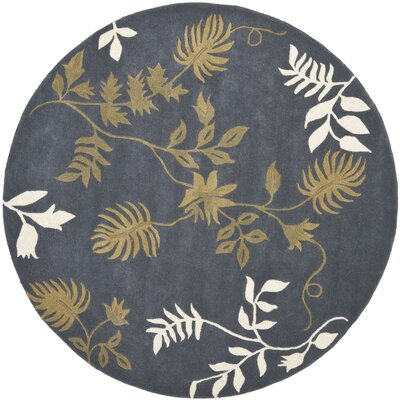 Soho Dark Grey Area Rug Rug Size: Round 6