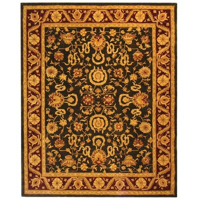 Anatolia Charcoal/Red Area Rug Rug Size: Rectangle 9 x 12
