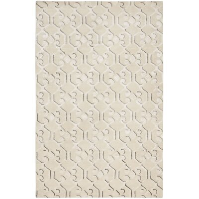 Tibetan Ivory / Ivory Geometric Rug Rug Size: 9 x 12