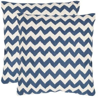 "Striped Tealea Decorative Pillow Size: 18"" H x 18"" W x 2.5"" D, Color: Mustard"
