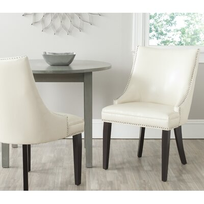 Cosner Upholstered Dining Chair Color: Flat Cream