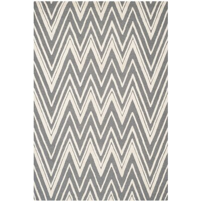 Martins Tufted Wool Grey & Silver Area Rug Rug Size: 5 x 8