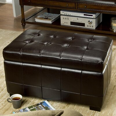 Strickland Storage Ottoman Upholstery: Brown