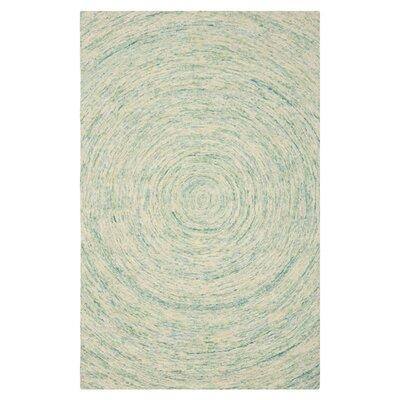 Ikat Ivory/Blue Area Rug Rug Size: Runner 23 x 6