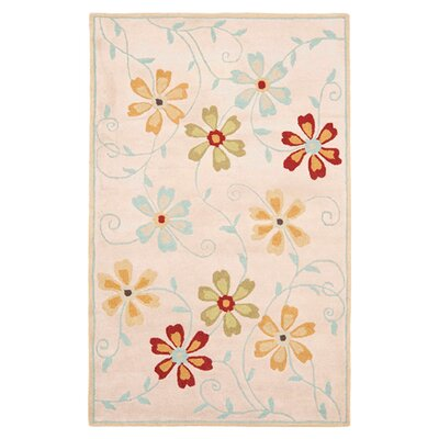 Blossom Floral Design Beige / Multi Contemporary Rug Rug Size: Rectangle 4' x 6'