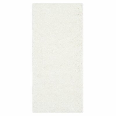 Starr Hill White Area Rug Rug Size: Runner 23 x 9