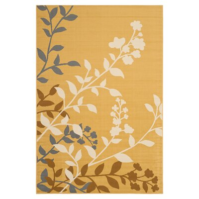 Hampton Camel Plants Indoor/Outdoor Area Rug Rug Size: Rectangle 8 x 11