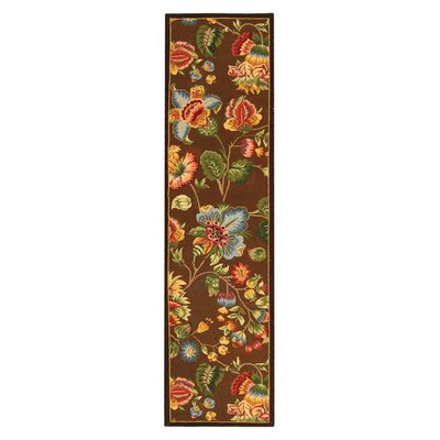 Kinchen Brown Area Rug Rug Size: Runner 26 x 12