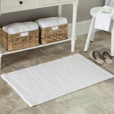 Plush Master Bath Rug II Size: 21 x 34, Color: White/White