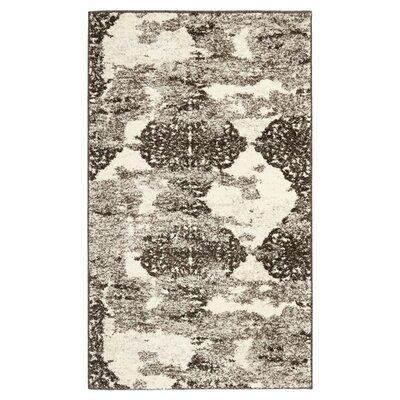 Anatolia Taupe/Blue Area Rug Rug Size: Rectangle 2'6