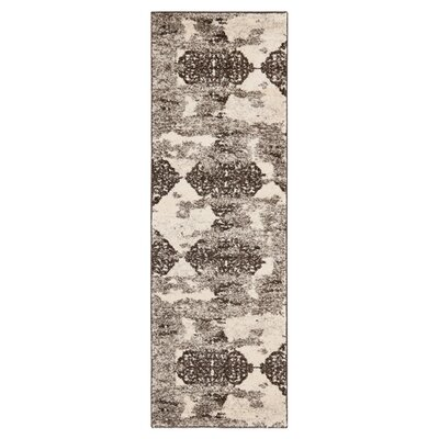 Retro Black/Light Grey Rug Rug Size: Runner 23 x 11