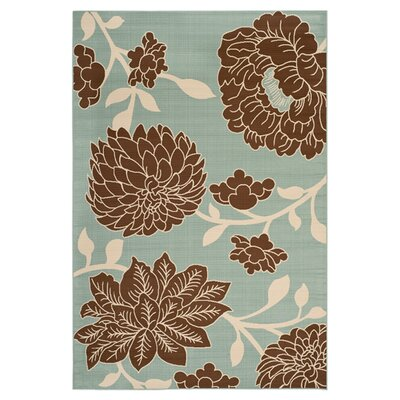 Hampton Light Grey Floral Outdoor Area Rug Rug Size: 4 x 6